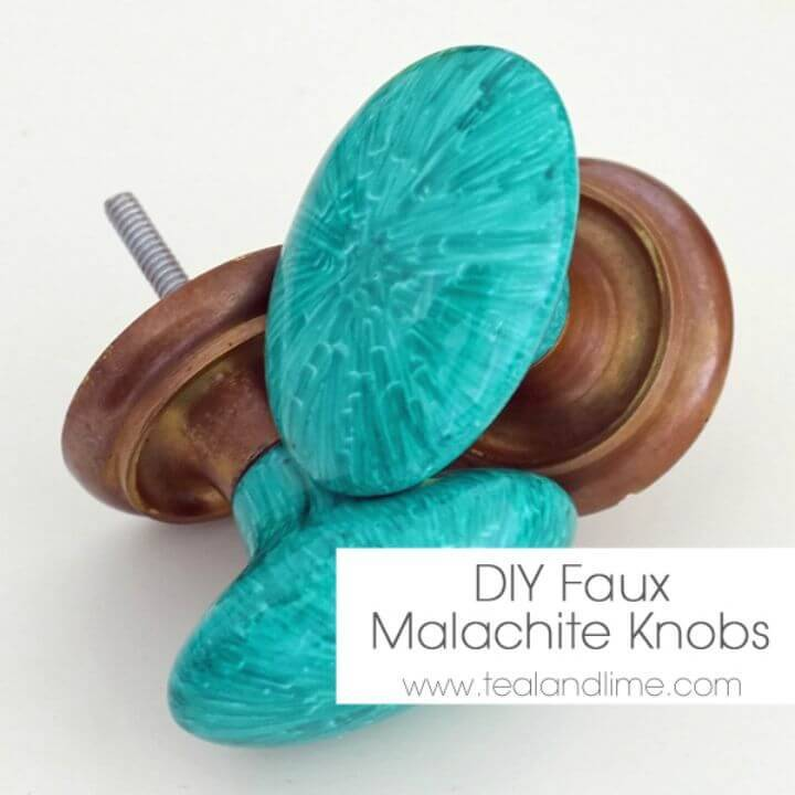 How to Make Faux Malachite Knobs - DIY