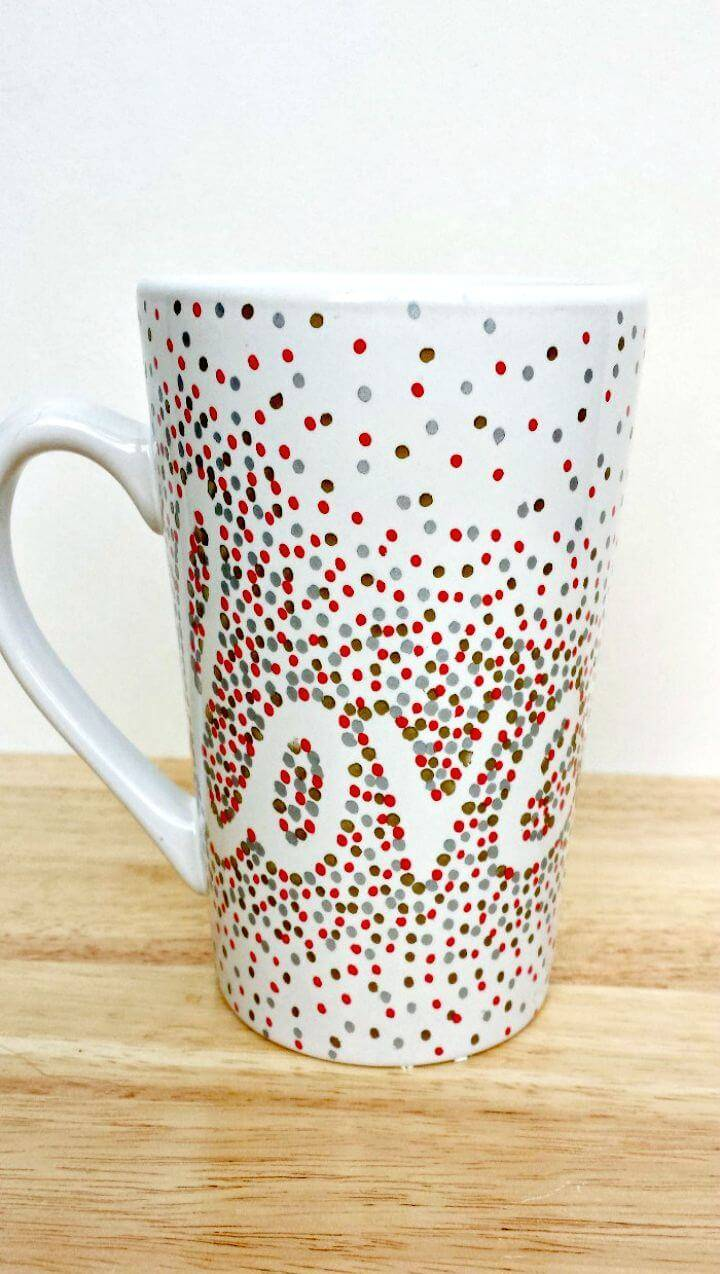 How to Create Dotted Sharpie Mugs - DIY