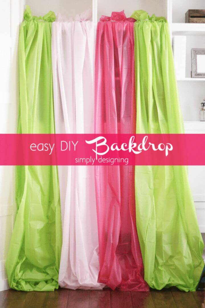 Create Plastic Tablecloths Photo Backdrop - DIY Backdrop Idea