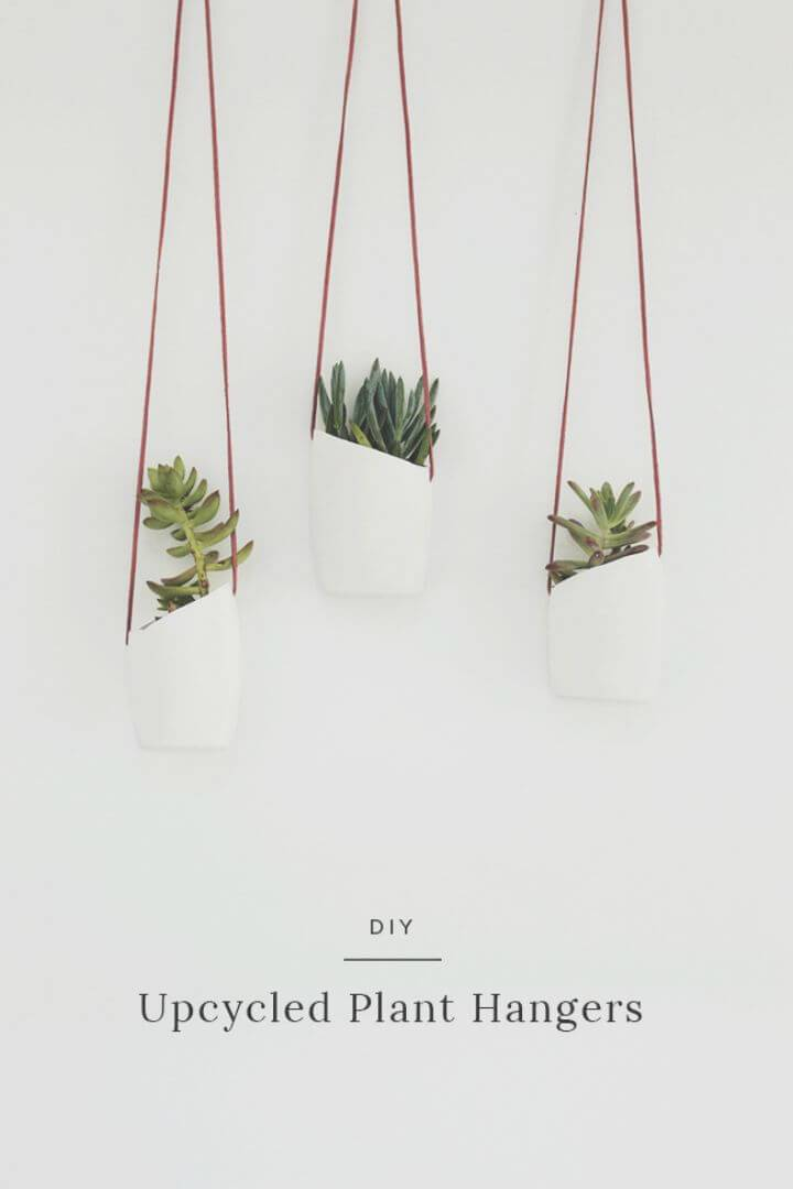 DIY Upcycled Plant Hangers