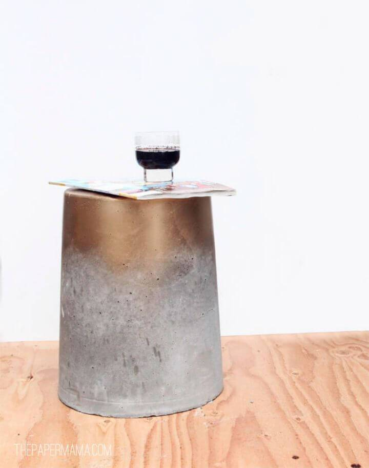 DIY Concrete Table for Less Than $15