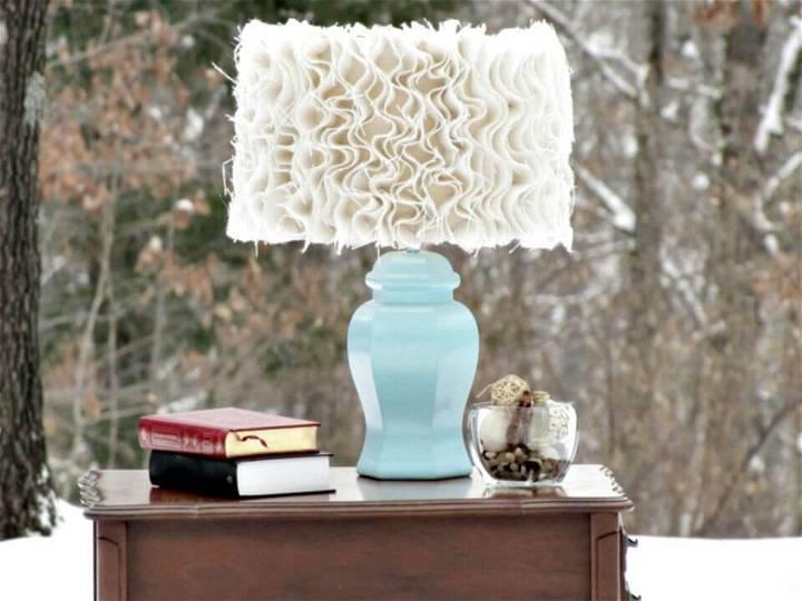 DIY Anthropologie-inspired Ruffled Burlap Lamp