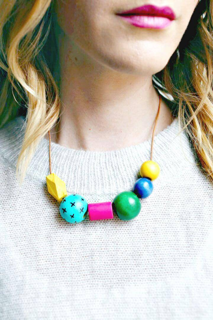 Colorful DIY Art Teacher Necklace