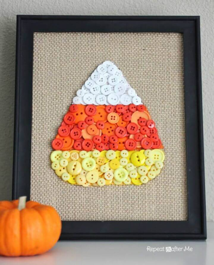 DIY Burlap In a Candy Corn Pattern