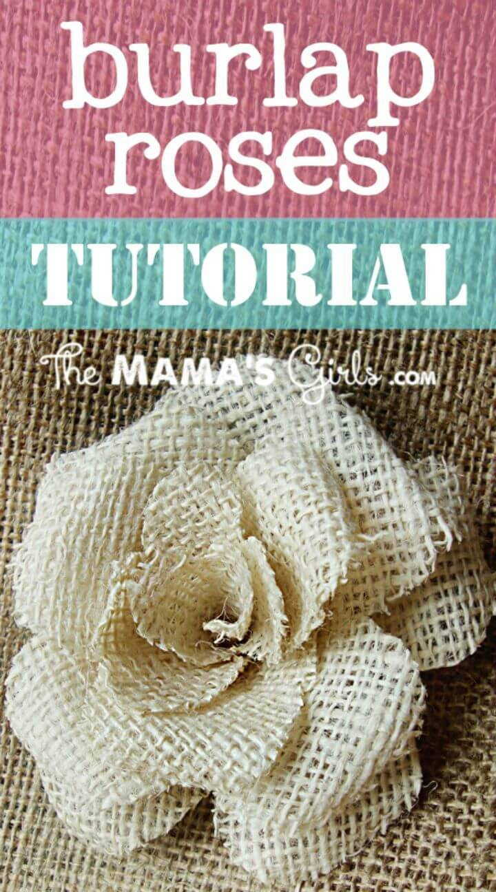 DIY Burlap Rose Tutorial