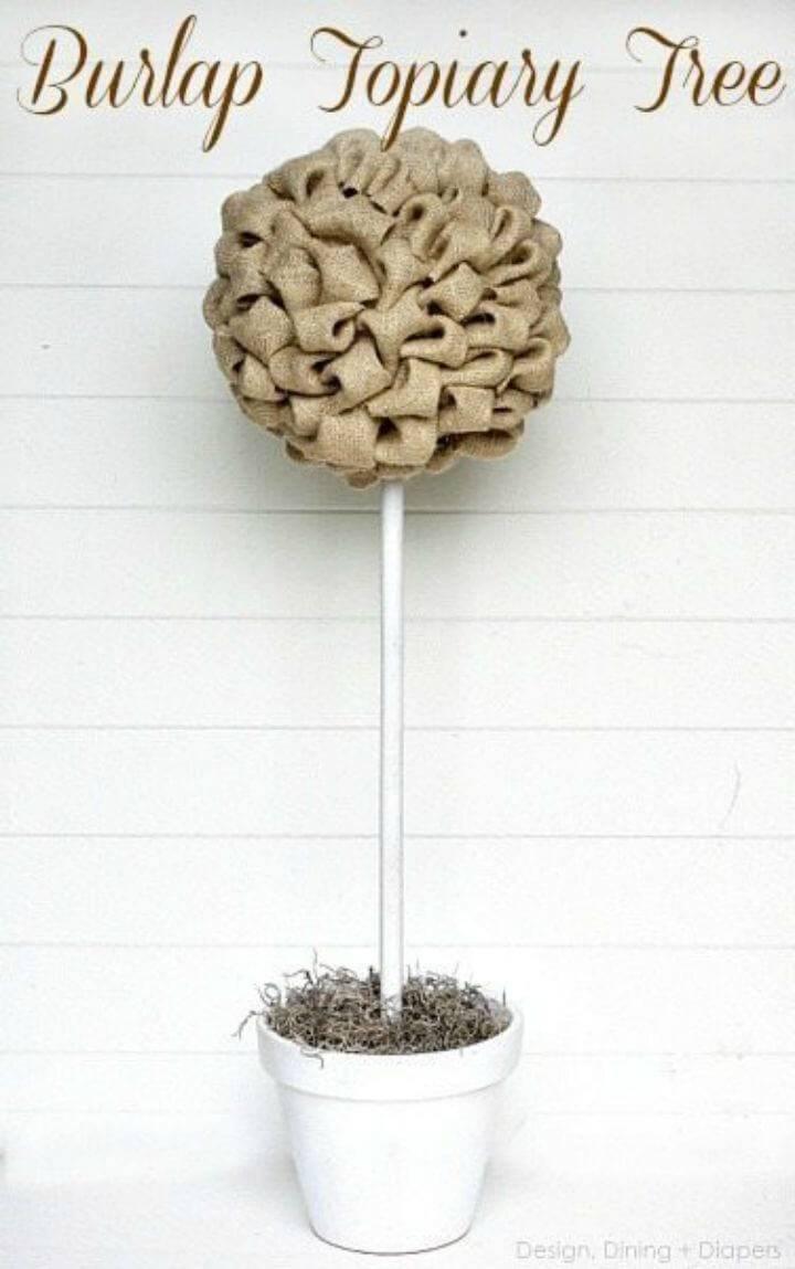 Make Burlap Topiary Tree