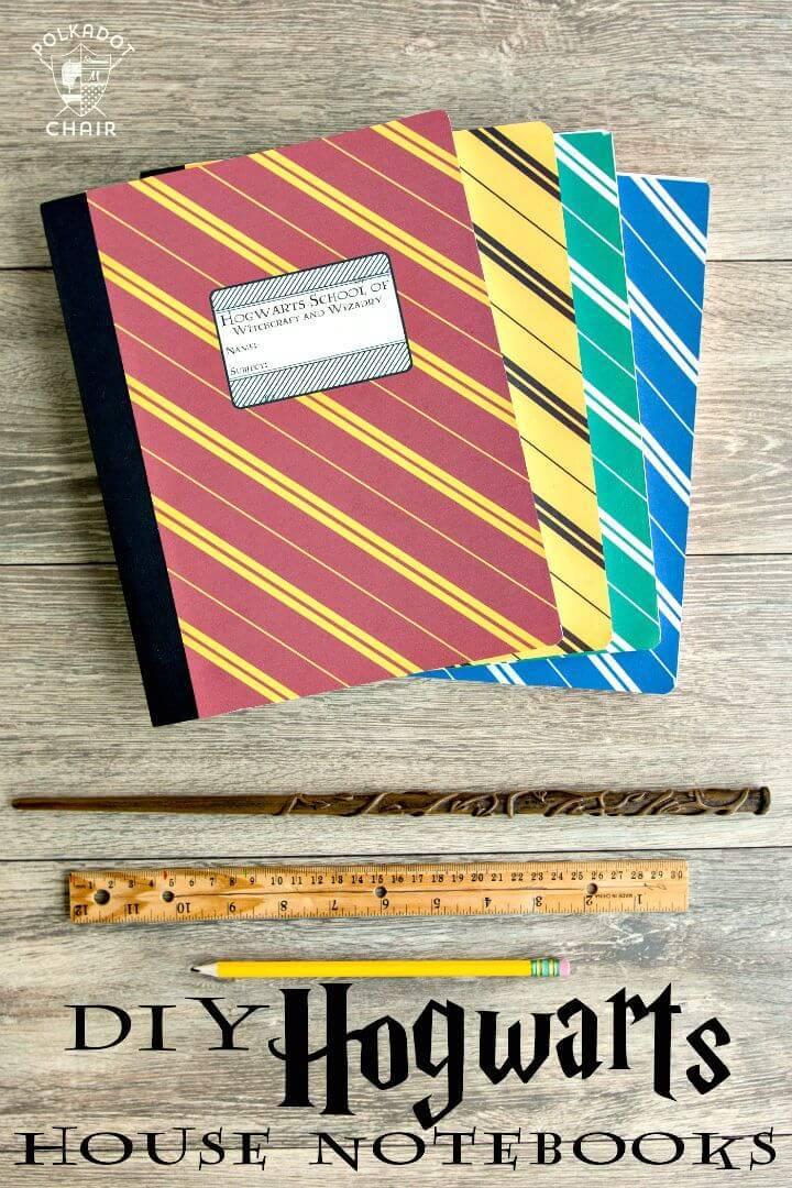 DIY Harry Potter Hogwarts Notebooks Cover