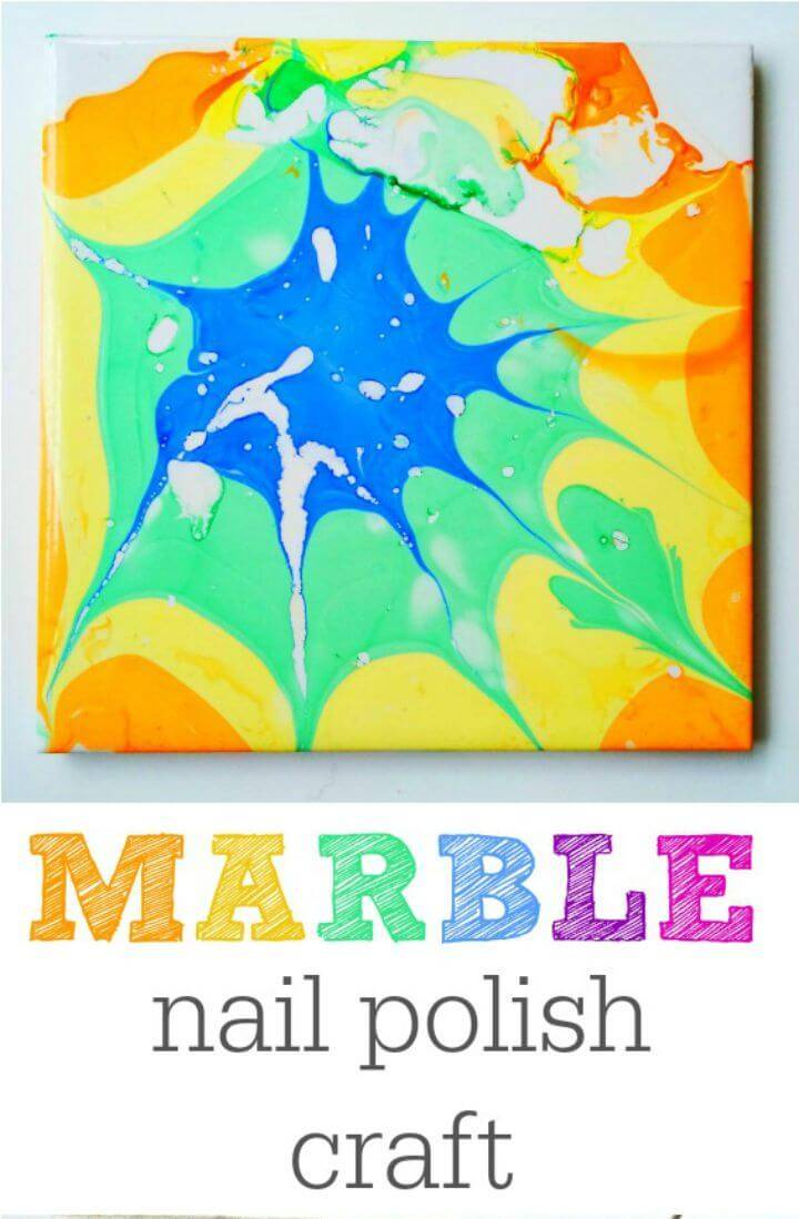 How to Make a Marble Nail Polish Craft - DIY