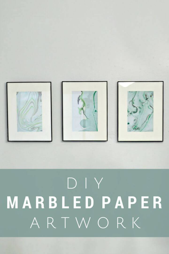 Easy to Make Marbled Paper Art Using Nail Polish - DIY