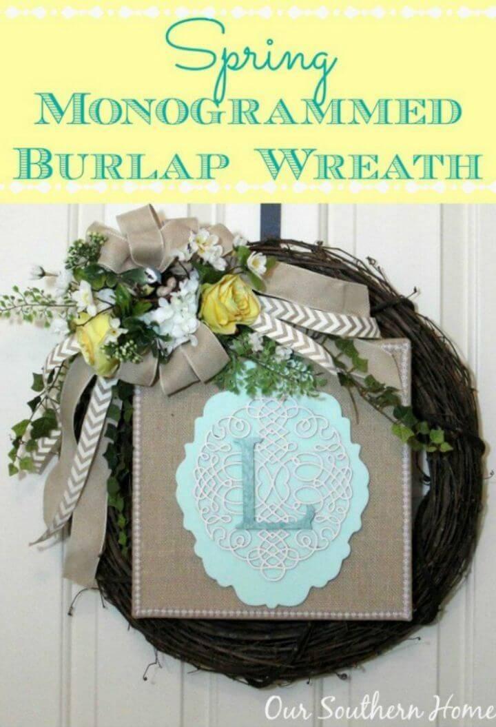 Make a Spring Monogrammed Wreath