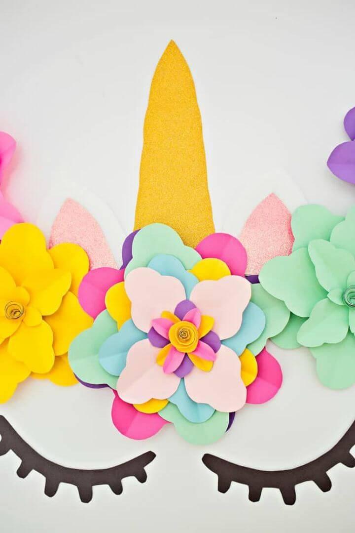 DIY Unicorn Flower Backdrop Tutorial