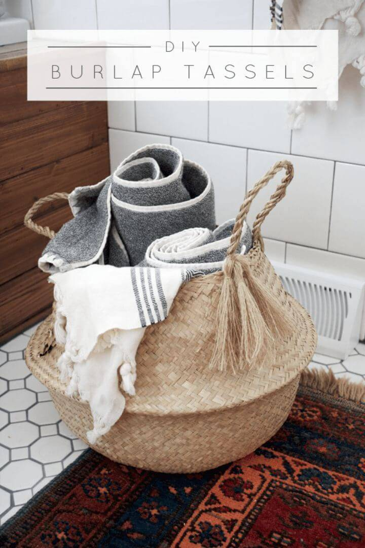 Easy DIY Burlap Tassels: