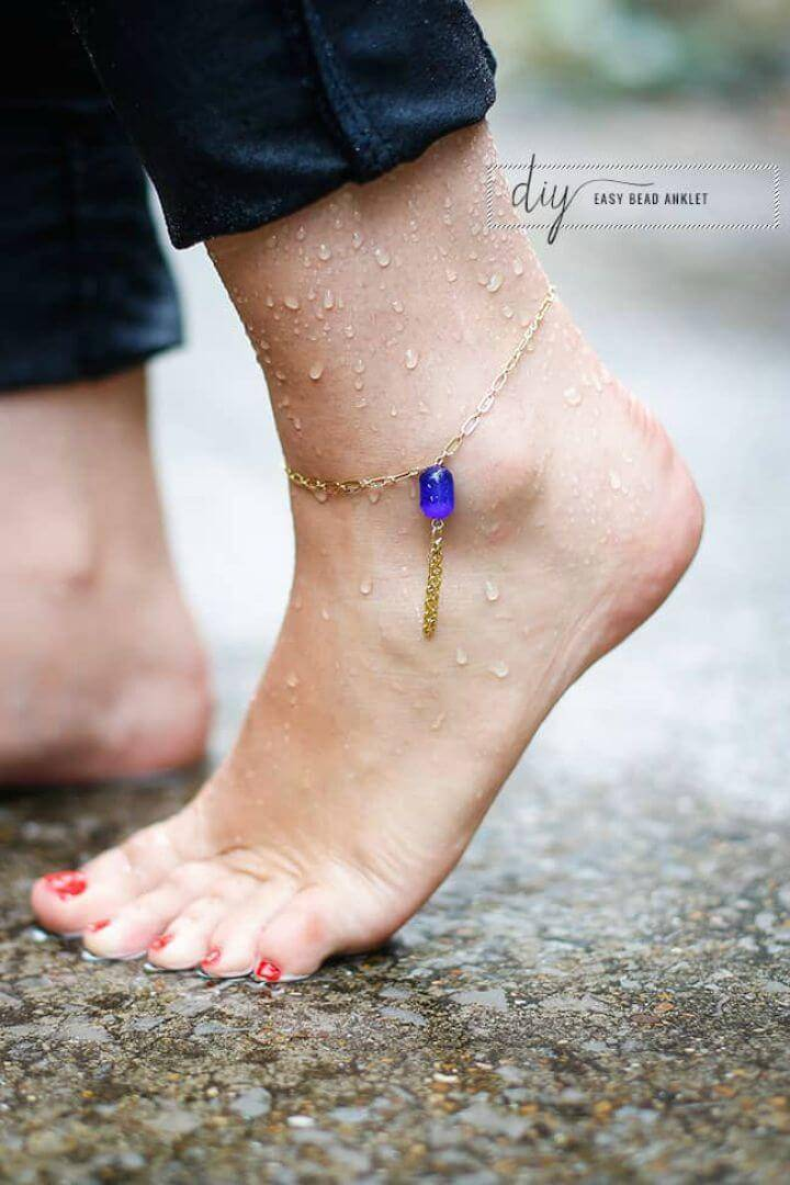 Awesome DIY Bead Anklet for Women