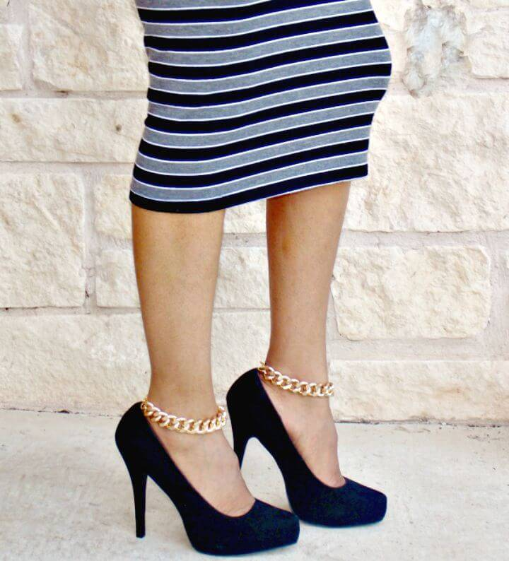 Easy DIY Chain Ankle Straps