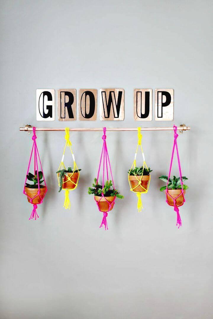 Easy DIY Copper Pipe Hanging Planter -Indoor Garden Ideas