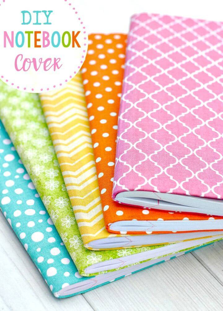 How to Make Fabric Notebook Covers