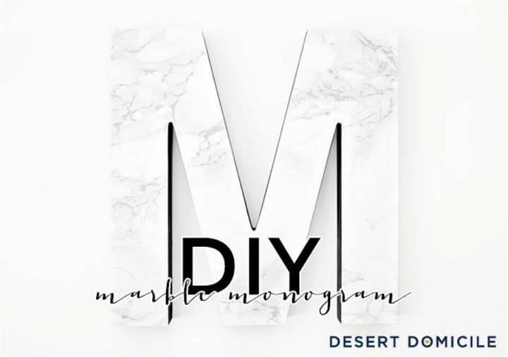 Easy DIY Marble Monogram