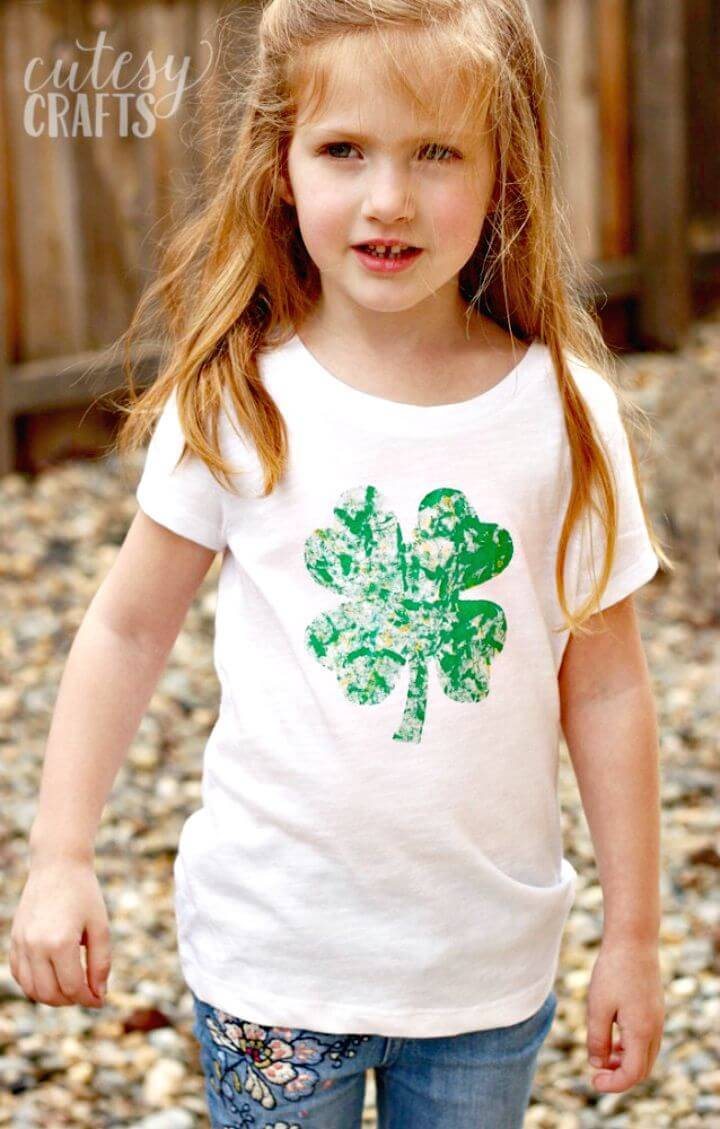 DIY Marble Painted St. Patrick's Day Shirt for Your Kids