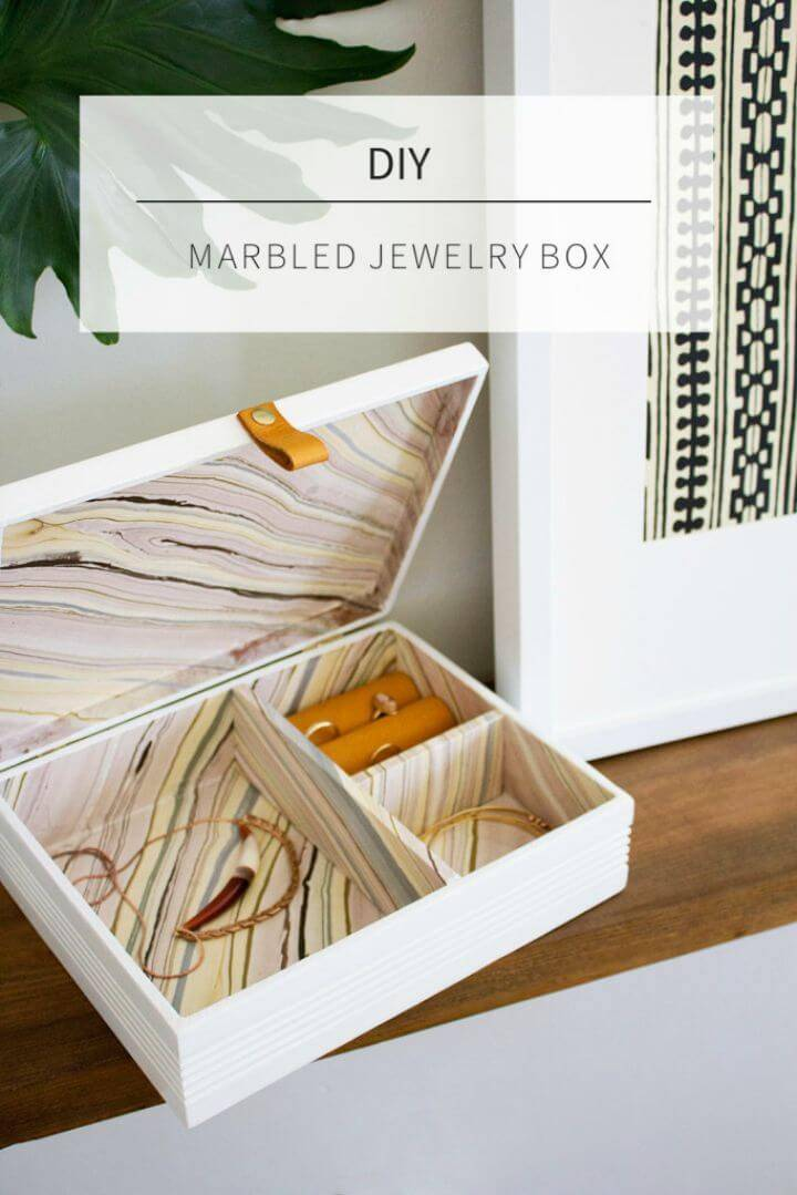 Easy DIY Marbled Jewelry Box
