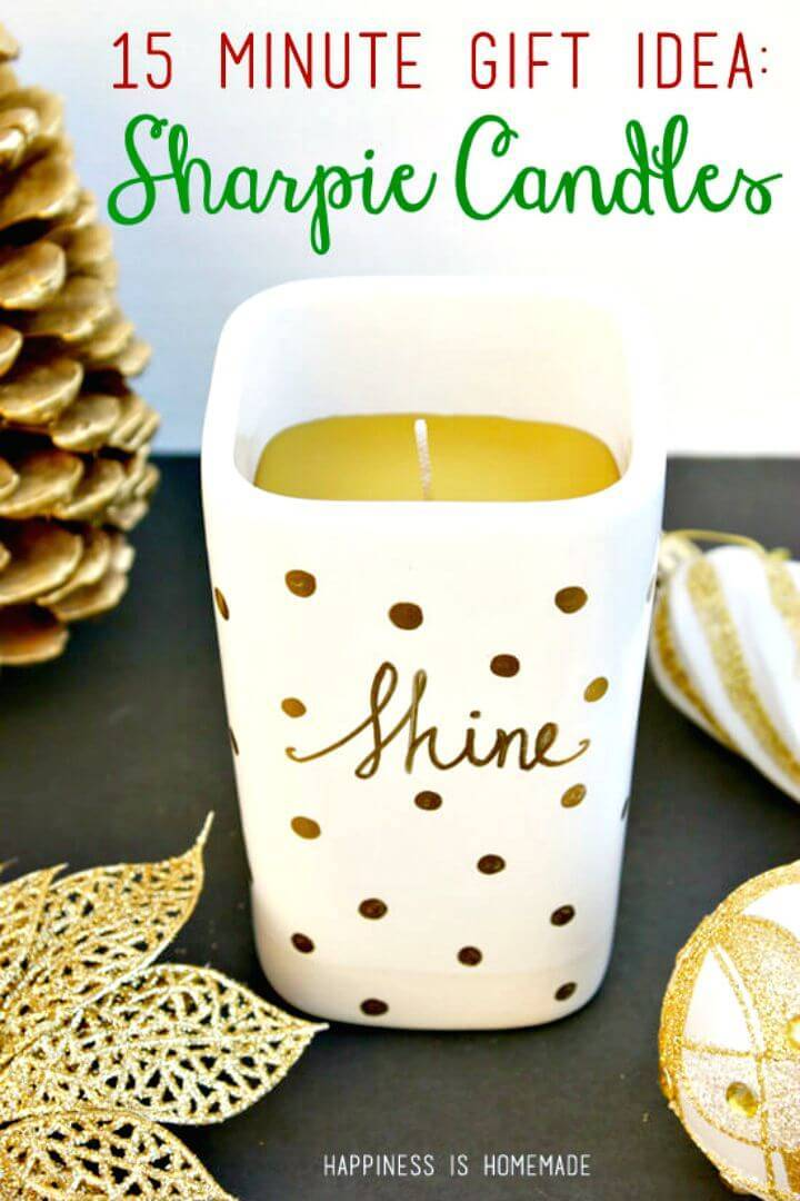 Easy DIY Sharpie Decorated Candle