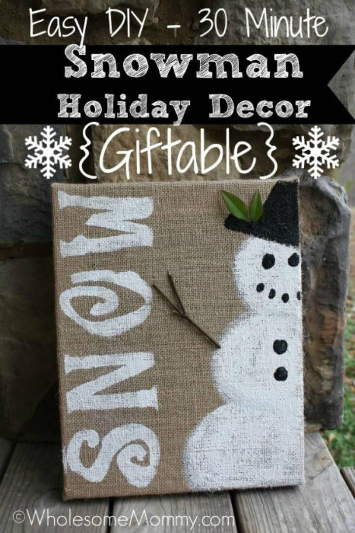 Easy DIY Snowman Holiday Decor
