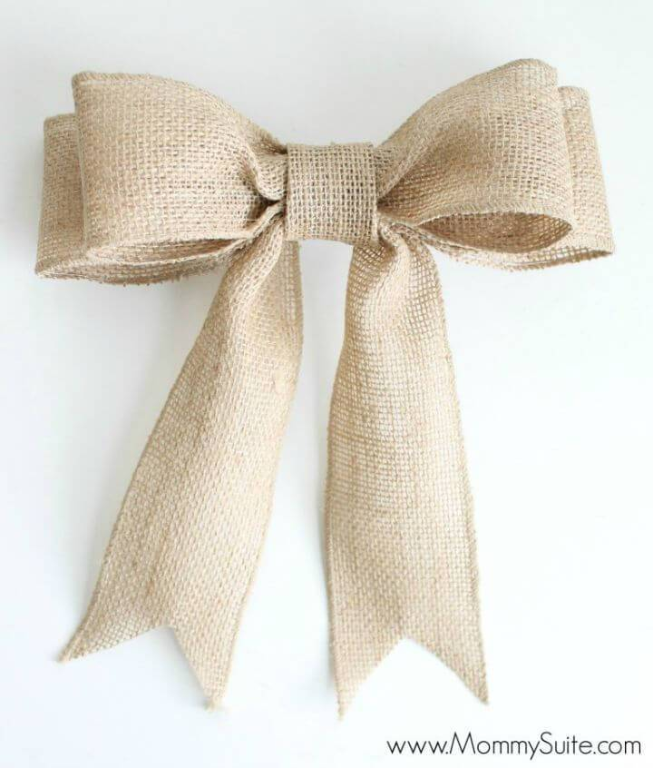 Easy To Make Burlap Bow