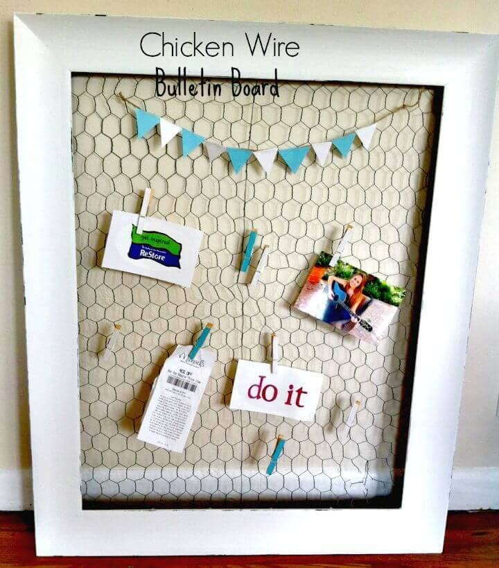Easy To Make Chicken Wire Bulletin Board