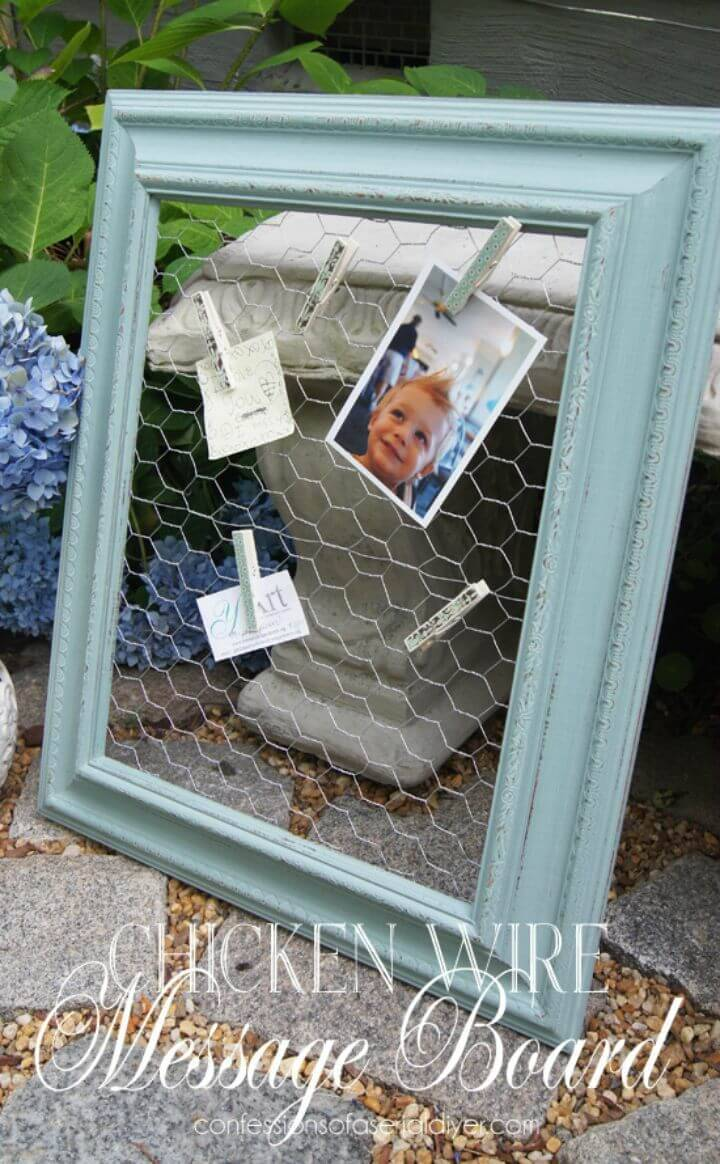 DIY Chicken Wire Message Board