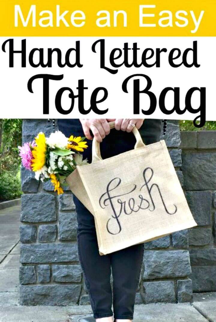 Easy to Make Hand Lettered Tote - DIY