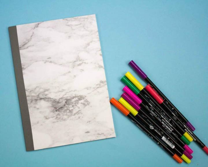 How to Make Marble Notebook for Your Kids - DIY