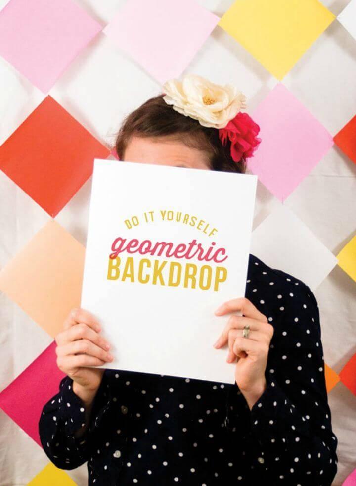 Fabulous DIY Geometric Photobooth Backdrop