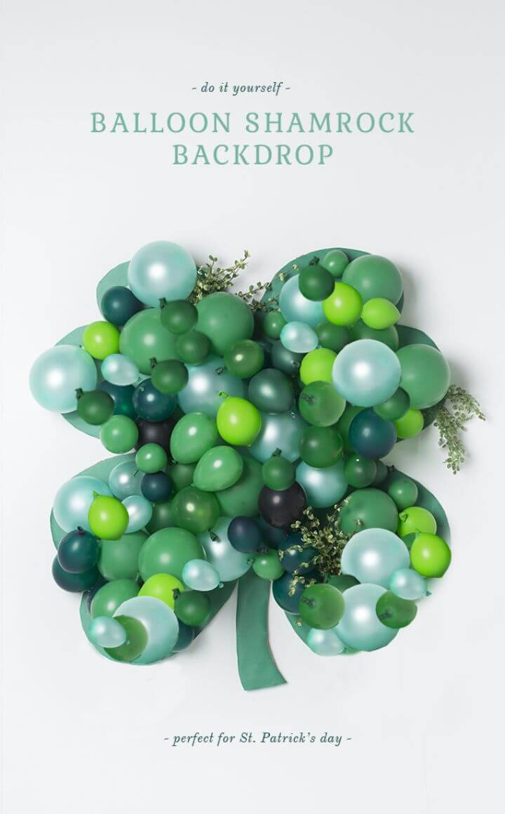 DIY Balloon Shamrock Backdrop