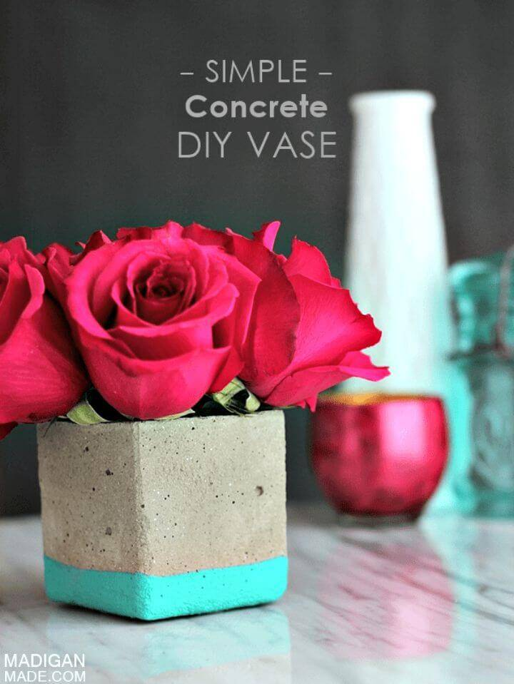 Gorgeous DIY Concrete Floral Vase