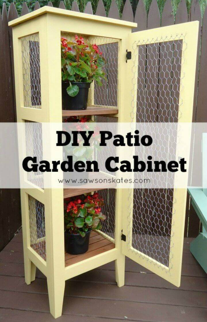 How To Build Calistoga Patio Garden Cabinet with Chicken Wire