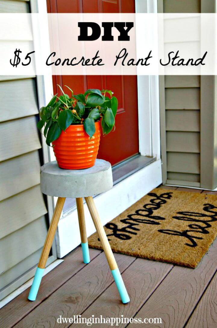 DIY Concrete Stool Or Plant Stand
