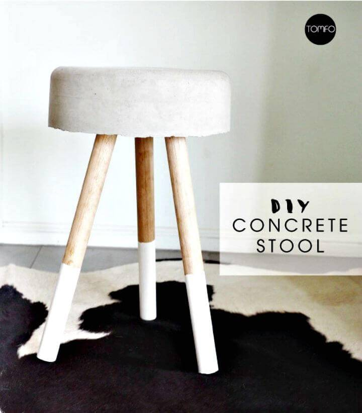 How To DIY Concrete Stool