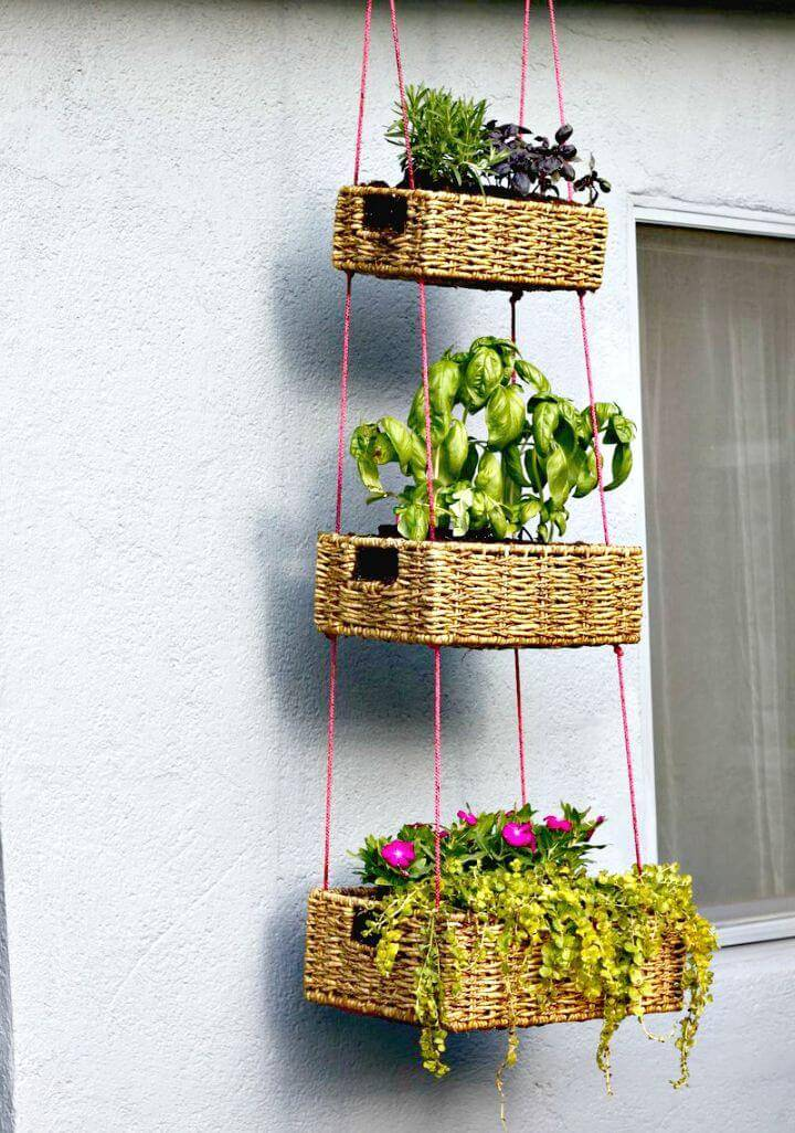How To Build Hanging Basket Garden - DIY
