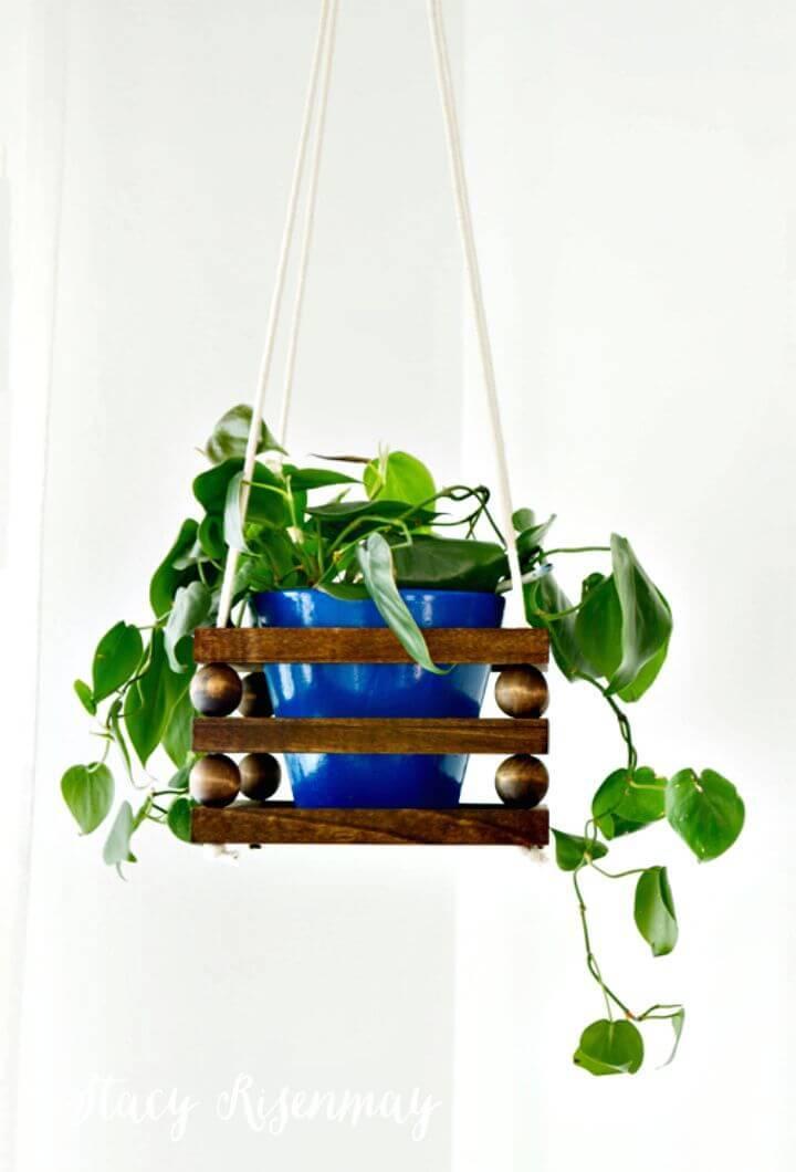 DIY Wood Bead Planter