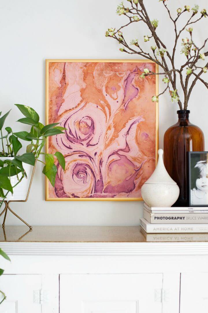 How To DIY Marbleize Paper Art