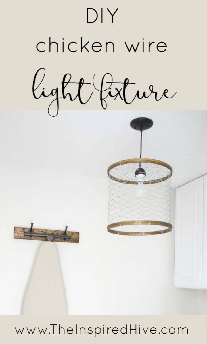 How To Make a Chicken Wire Light Fixture