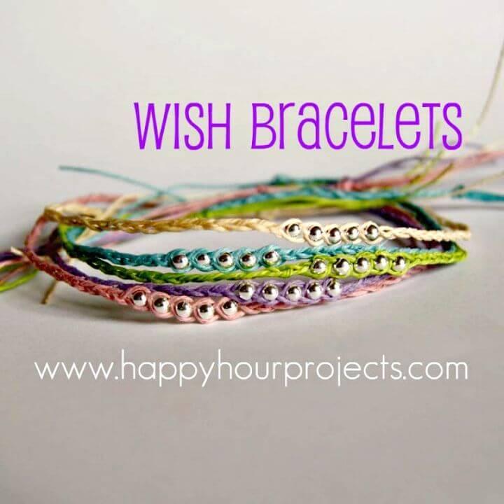 How To Make Ankle 'Wish Bracelets - DIY