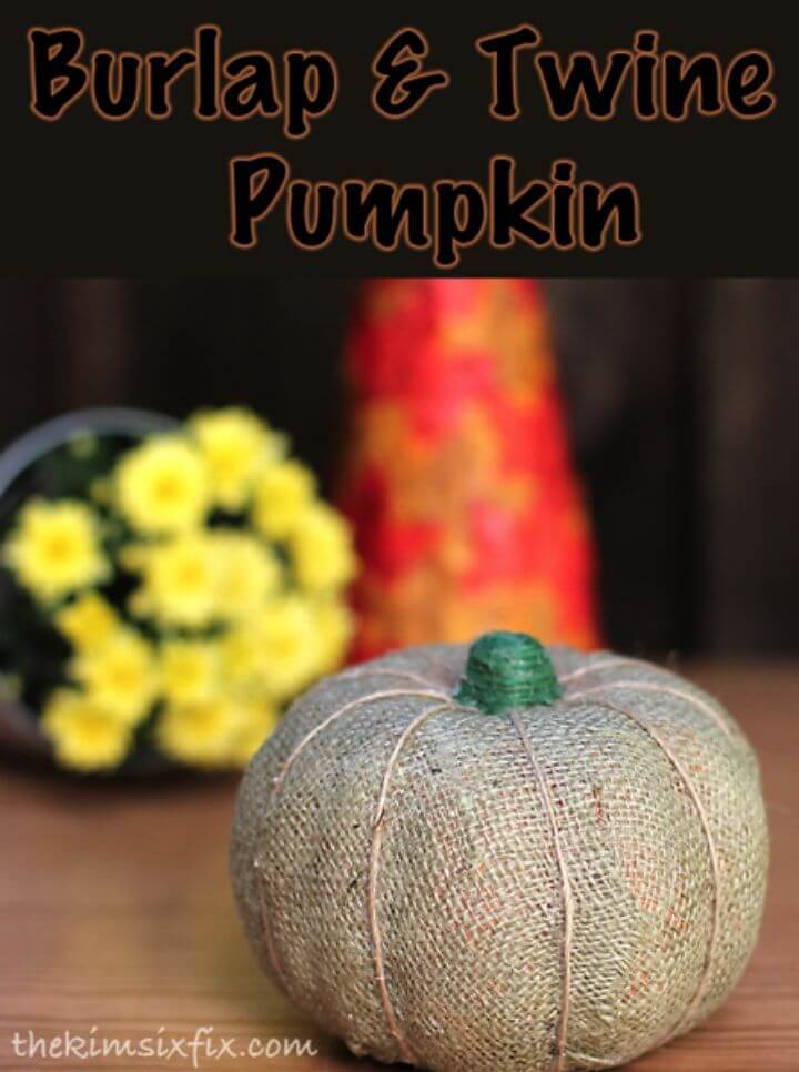 How To Make Burlap and Twine Pumpkin