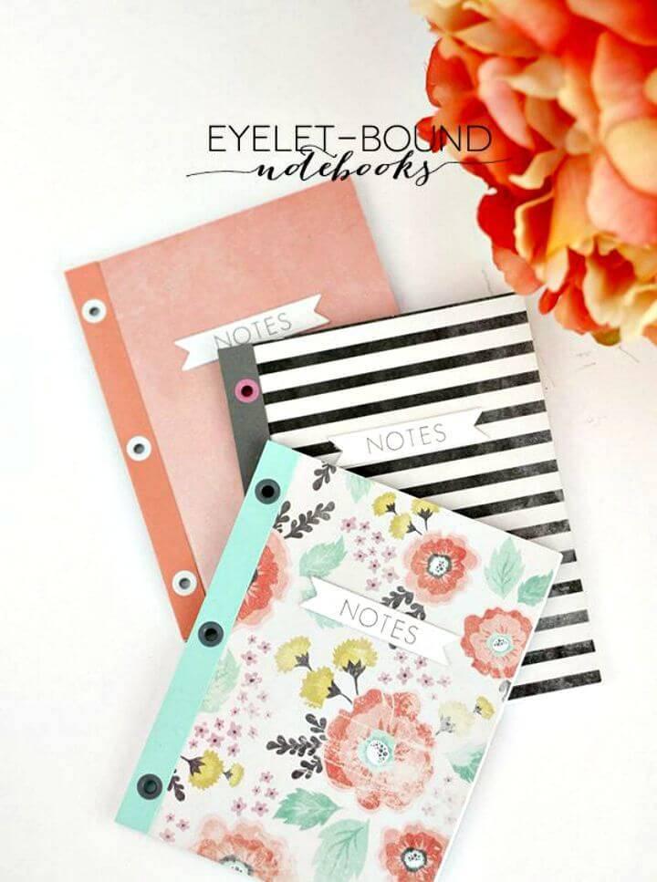 DIY Eyelet Bound Notebooks Cover