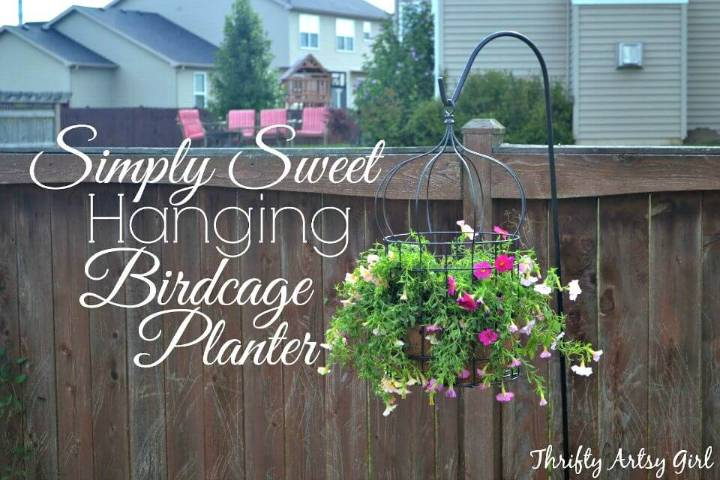 How To Make Hanging Birdcage Planter - DIY