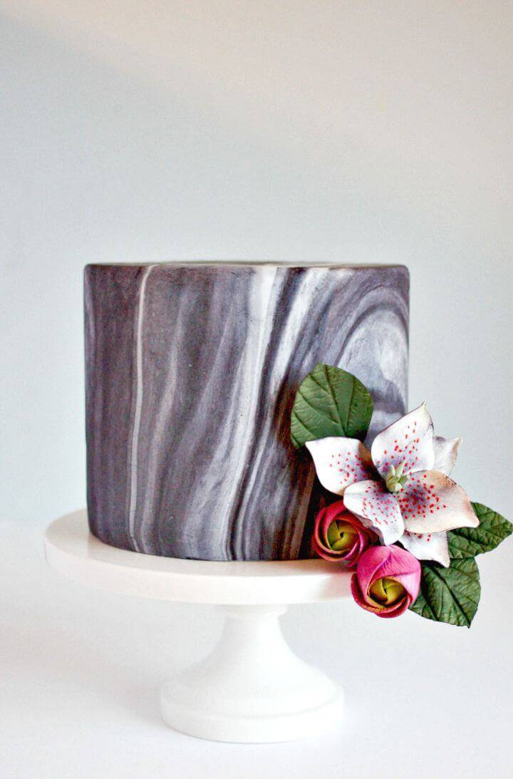 Awesome DIY Marble Fondant with Ease