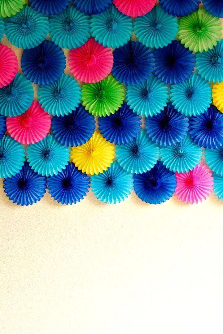 Easy DIY Paper Fan Party Backdrop