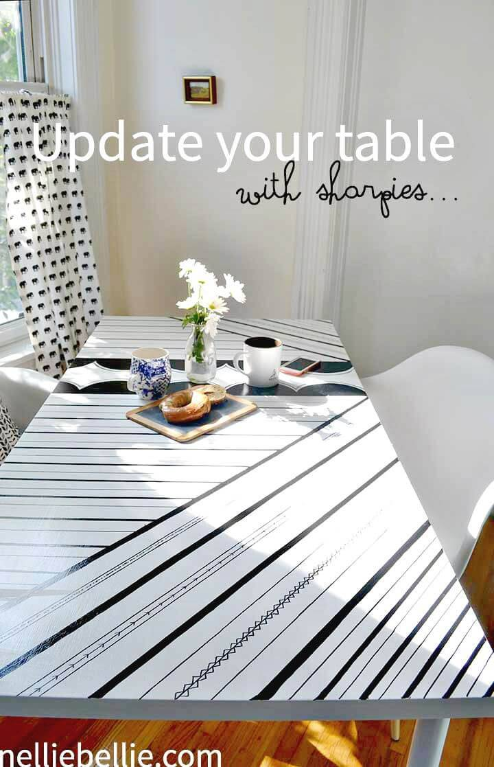 Awesome DIY Sharpie Decorated Table