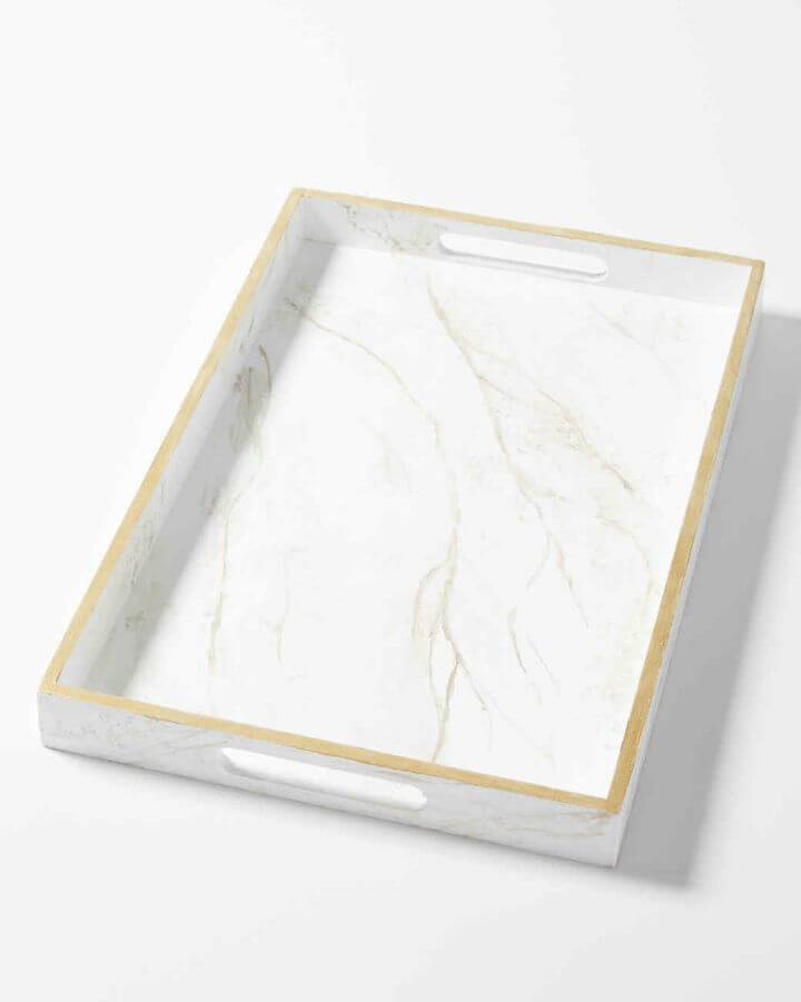 DIY Marvelous Marble Serving Tray