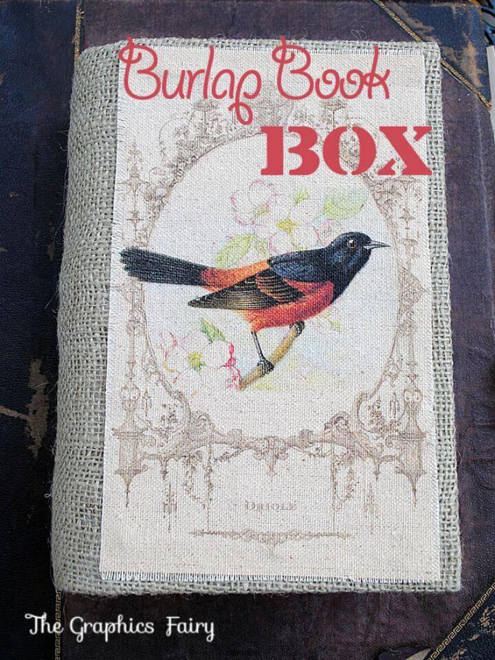 Make Burlap Book Box