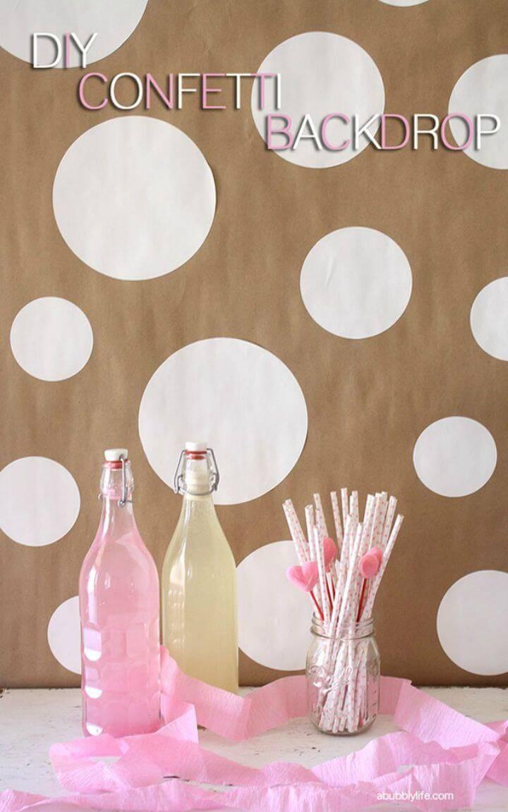 Make Confetti Party Backdrop - DIY